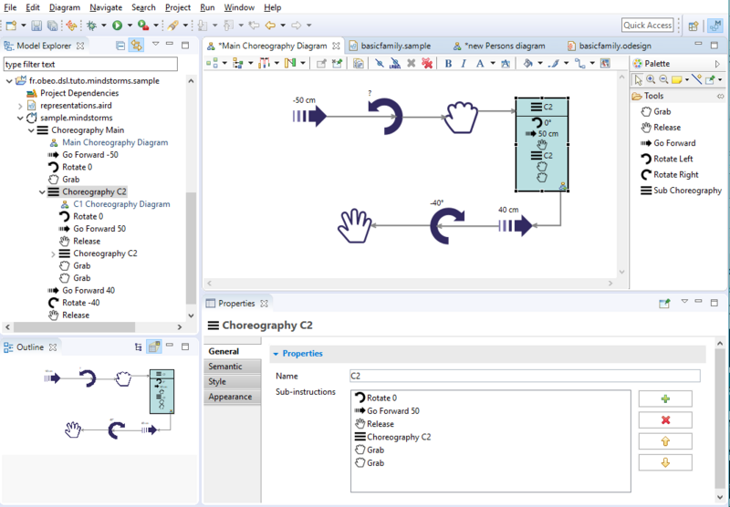 The Mindstorms modeling tool created with Sirius